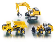 The 1/87 3-Piece Construction Set from the Siku Super Series - Discounts on all Siku Diecast Models at Wonderland Models.    One of our favourite sets in the Siku Super Series 1/87 Scale range is the Siku 3-Piece Construction Set.    Siku manufacture wonderful, amazingly accurate and detailed diecast models of all sorts of vehicles, particularly construction vehicles including this 3-Piece Construction Set.