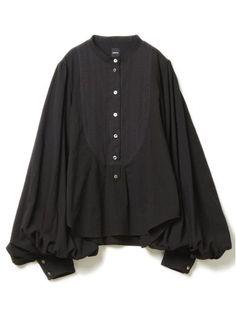 バルーンスリーブドレスシャツ