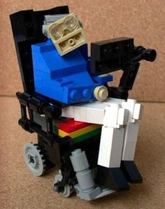 Stephen Hawking in Lego - my students will LOVE this. Now we just need a Lego Sheldon!