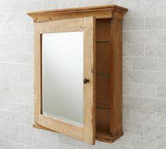 Mason Reclaimed Wood Wall Mounted Medicine Cabinet Wax Pine Finish Pottery Barn