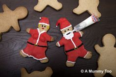 How to make Father Christmas spiced shortbread biscuits    The biscuits are essentially shortbread, flavoured with lemon and mixed spice – very tasty and very Christmasy.    Here's what to do to make a dozen Father Christmas biscuits.