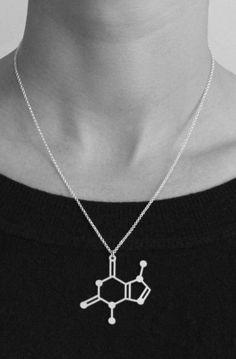 Chocolate molecule necklace