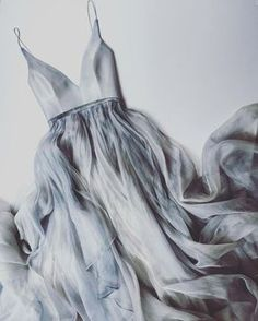 dove grey Raincloud Gabrielle Dress by LeanneMarshallOfficial