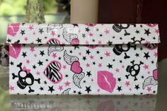 Duct Tape Wallet (Clutch) - Skulls and Stars, $18. We are also on Etsy at: www.junorduck.etsy.com