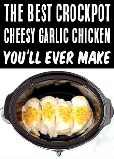 Crockpot Dinner Ideas - Easy Garlic Chicken Recipe! This dreamy crockpot dinner has the rich & creamy, cheesy decadence you love, and will become an INSTANT hit with the family. The best part is, it's a cinch to make! Go grab the recipe & give it a try this week! Chicken Mushroom Recipes, Italian Chicken Recipes, Chicken Parmesan Recipes, Easy Chicken Recipes, Easy Dinner Recipes, Dinner Ideas, Delicious Crockpot Recipes, Creamy Italian Chicken, Garlic Parmesan Chicken