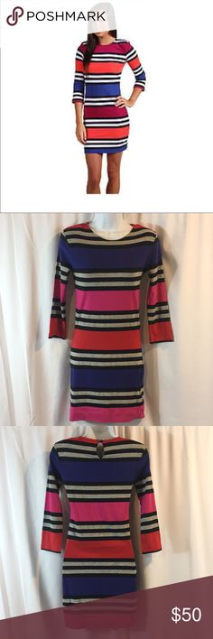 French Connection SZ 4 Striped Dress French Connection SZ 4 Striped Dress *length from shoulder to hem is approximately 32 in. French Connection Dresses