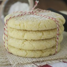 Olive Oil Cookies With Lemon & Thyme:  A soft and chewy cookie bursting with lemon flavor.