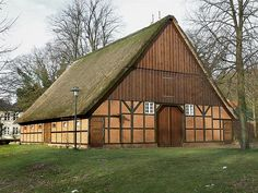 Scheune Langes Mühle - Half-timbered barn with brick infill. Uetersen, Germany. This barn's proportions resemble a Low German house. - Wikipedia, the free encyclopedia