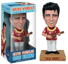 Funko 02400 Wacky Wobbler Elvis Presley Blue Hawaii Pop Culture for sale online Funko Pop, Elvis Presley Blue Hawaii, Wacky Wobbler, Aloha Shirt, Pop Vinyl, Bobble Head, Vinyl Figures, Bag Storage, Pop Culture