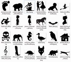 more than 600 free printable silhouette-