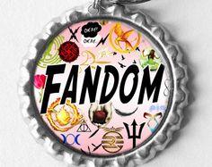 Fandom Necklace / Keychain by 4EverAlwaysDesigns on Etsy