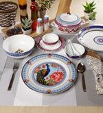 Buy Mayura Collection Bone China Dinner Set - Set of 48 by Sanjeev Kapoor Online: Shop from wide range of BoneChina Dinner Set Online, Dinner Sets, Bone China Dinner Set, Sanjeev Kapoor, Your Favorite, Decorative Plates, Favorite Recipes, Tableware, Range