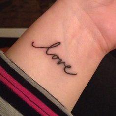 My new wrist tattoo!  ❤️