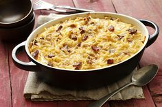 Christmas Morning Breakfast Casserole...I might make this one..you could fry the bacon and onions up the night before and just throw it all together the morning of ..pop in oven while opening presents!