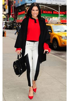 Jessie J walking the streets of NYC