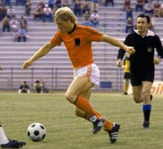 Holland 1 Greece 0 in 1980 in Naples. Kees Kist comes forward for Holland in hope of a goal in Group A at Euro European Cup, Soccer Ball, Naples, Holland, Greece, Football, Goals, Group, American Football