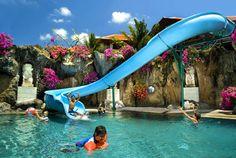 18-Meter Waterslide at The Westin, Bali. Kids play time!