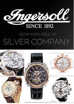 Ingersoll now available at our Rosebank store!  Rich in history, eye catching design and reliable mechanics remain the hallmarks of Ingersoll watches.  Silver Company Eastgate Mall, Centurion Mall and Rosebank Mall. info@silvercompan...