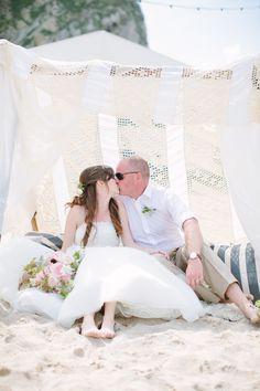 Photography: Camilla Arnhold Photography - camillaarnholdphotography.com  Read More: http://www.stylemepretty.com/destination-weddings/2014/08/04/bohemian-england-beach-wedding/