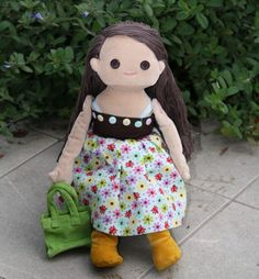 "Dressable doll ""anika"" in her blue & brown dress.  http://www.anikaclub.com"