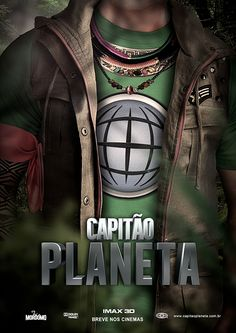 """""""Captain Planet and the Planeteers"""" fictional movie poster by André Cox"""