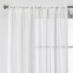 Project 62 : Home Decor : Target Sheer Curtain Panels, Sheer Curtains, Curtain Rods, Window Curtains, Target Curtains, Slider Door, Curtains With Rings, White Paneling