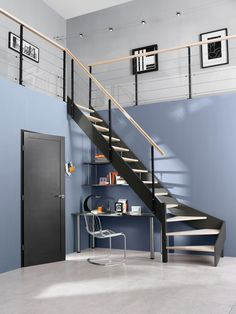 amenagement de placard on pinterest placard sous escalier cabinets and porte battante. Black Bedroom Furniture Sets. Home Design Ideas