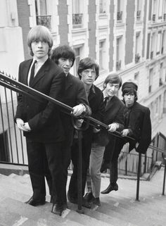 zombiesenelghetto:The Rolling Stones, photo by Pierre Fournier, Paris August 1965 The Rolling Stones, Brian Jones Rolling Stones, Jimi Hendrix, Pink Floyd, El Rock And Roll, Rollin Stones, Charlie Watts, British Rock, Its A Mans World
