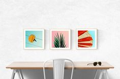 art prints // mid century modern beach art // by SeptemberWren