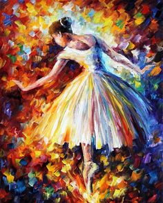 Impressionist Ballet Dancers Ballerina Painting On Canvas By