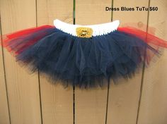 Dress blues tutu. :]  Would be so cute for a home coming!