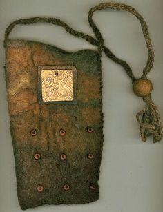 Florentine  wet felted bag van ThistleWoolworks op Etsy, $95.00