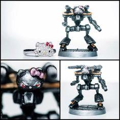 Hello Kitty Mecha.  Diecast miniature.