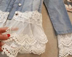With these five different ways to add lace accents to denim, you can easily create a soft, romantic look in place of the same old jean jacket.