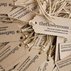 Letterpress printed luggage labels for The Flower Room, boutique florists in Kelso and Berwick Upon Tweed