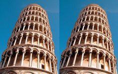 A két torony párhuzamos egy földfelszíni nézőpontból.