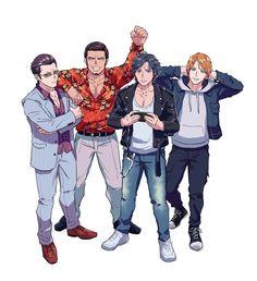 Yakuza Anime, Fandoms, My Diary, Video Game Art, Anime Boys, Karaoke, Cute Drawings, Videogames, Concept Art