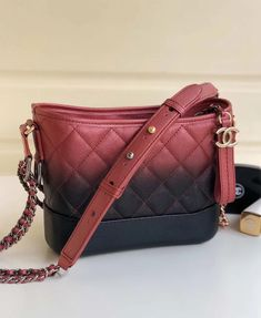 d6c8dcca81f3 Chanel Two-tone Grained Calfskin Gabrielle Small Hobo Bag A91810 Red/Black  2018 Designer