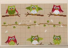 Owl cross stitch on Craft