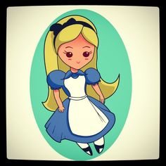 Kawaii Alice. For an etsy project.