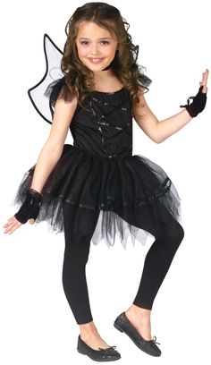 kid balerinas | Dark Fairy Ballerina Costume for Kids | Ballerina Fairy Halloween .  sc 1 st  Pinterest & fairy costumes for toddlers | u003eu003e Fairy Costume u003eu003e Dark Fairy Costume ...