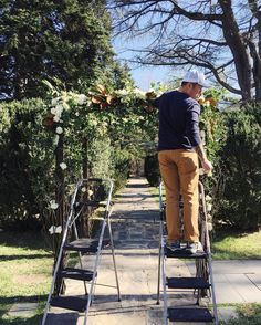 My one true love took the lead on the arch design for Saturday's wedding and did such a beautiful job! He keeps threatening a spin off business - Wild Green Yonder by Paul Tran... #wildgreenyonder #flowers