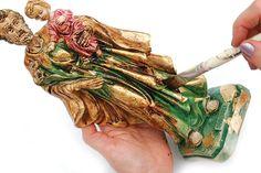Pintura em gesso da imagem de São José - Portal de Artesanato - O melhor site de artesanato com passo a passo gratuito