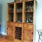 Ana White | Build a Mod Bar - Stemware Hutch | Free and Easy DIY Project and Furniture Plans Building Furniture, Furniture Projects, Furniture Plans, Diy Furniture, Easy Diy Projects, Home Projects, Pallet Projects, Project Ideas, Wine Rack Cabinet