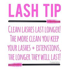 CLEAN lashes are HAPPY lashes! Even if you don't wear make up, your lashes can…
