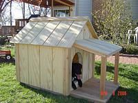 How to Build a Dog House  An insulated dog house made from inexpensive and recycled materials Removable roof for cleaning.