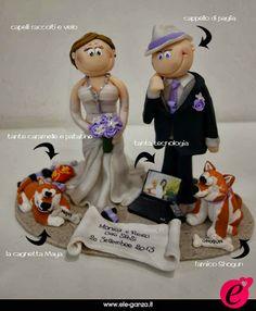 ...ele-ganza...: cake topper #matrimonio personalizzato #customcaketopper #caketopper #toppercake #topcake #weddingidea #weddingcake #wedding #bride #weddingcaketopper #sopratorta #cakedesign #cakeidea #caketop #fimo #clay #clayproject #clayminiature www.ele-ganza.it