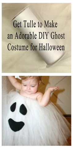 "To make this DIY ghost costume, you need to start with tulle! Find tulle rolls in 3"", 6"", 12"", and 18' widths. There are several colors available. Even make it a ""spooky"" theme with ghosts, zombies, and witches. Visit PaperMart.com to find tulle available in all the different colors to make an easy DIY Halloween costume. And to find more Halloween costume ideas like this cute ghost costume, visit…"