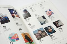 magasine design with grids – mixture of pics, numbers and short text
