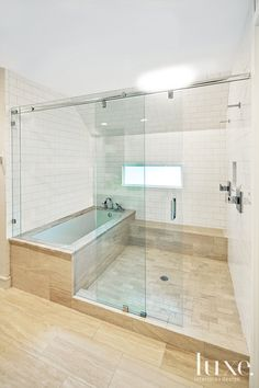 The master bath in this Austin home is a refreshing departure from a traditional bathroom.